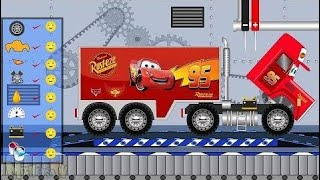 Disney Lightning Mcqueen Transport Truck - Toys Factory - Kids Video