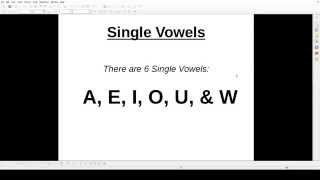 Hmong Literacy - Lesson 01: Single Vowels