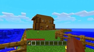 Minecraft: how to build a cool house xbox 360 edition in survival (parody)