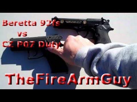Beretta 92fs vs CZ P07 Duty (Best 9mm Handguns) - TheFireArmGuy