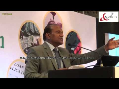 M. S. Ramanujam, Chief Post Master General, Karnataka Circle,at Financial Inclusion Conclave 2014
