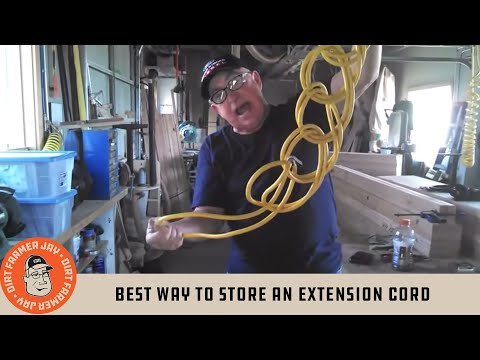 Best Way To Store An Extension Cord Youtube