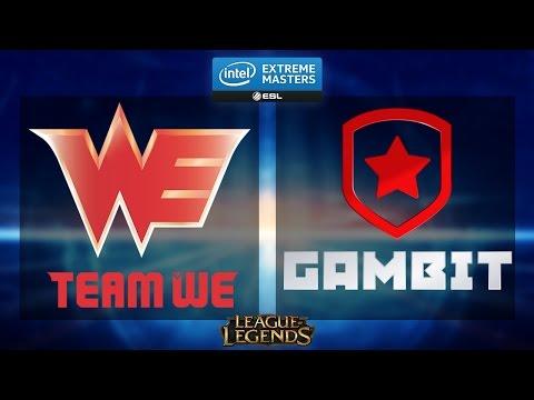 League of Legends - Team WE vs. Gambit - IEM Katowice 2015 - Group B