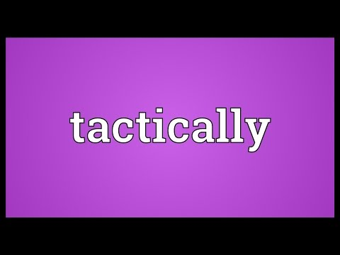 Header of tactically