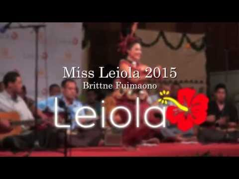 Miss Heilala 2015 Brittne Fuimaono for Miss South Pacific 2015-2016
