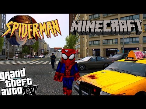 GTA 4 Minecraft Spiderman Mod - Minecraft Skin for Spiderman
