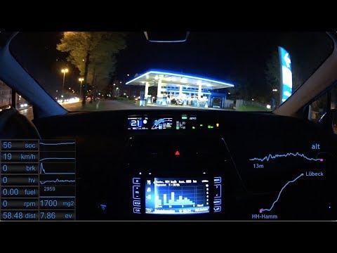 #23 Prius 4 - AUTO BILD Teststrecke Teil 4: Lübeck - Hamburg Autobahn 130 km/h (Remake)