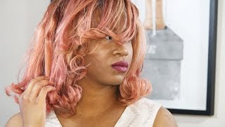 Rose Gold Hair Tutorial | How to Dye Hair From Black to Pastel Pink
