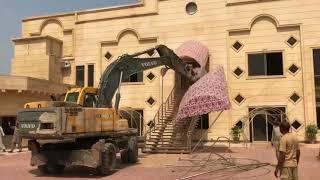 CDA Operation in Islamabad   CDA Destroying Buildings in Islamabad    Ronak Maila