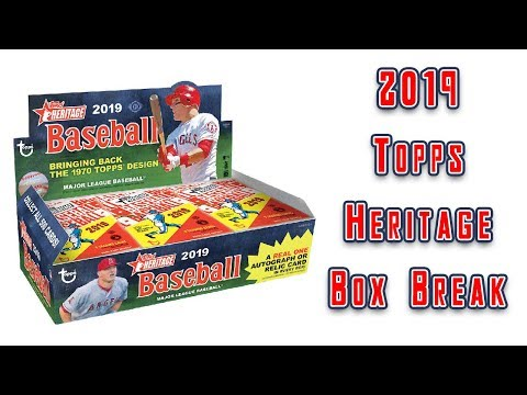2019 Topps Heritage Baseball Box Break