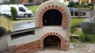 Aussenküche Mit Pizzaofen : Außenküche holzbackofen pizzaofen selbst gebaut teil youtube