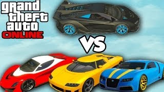 "GTA 5 Online - ""PEGASSI ZENTORNO"" BEST CAR? (Zentorno vs Adder vs Turismo) [GTA V High Life DLC]"