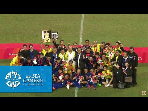 Football Men's Final Victory Ceremony | 28th SEA Games Singapore 2015