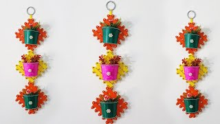 Wall Hanging Flower Vase with Popsicle Stick |Ice-cream Stick Easy Craft Idea| Wall Hanging  |DIY|