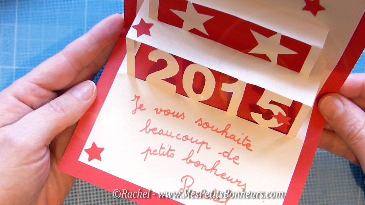 Carte de voeux 2015 en kirigami tutoriel pour une carte - Bricolage de noel a imprimer ...