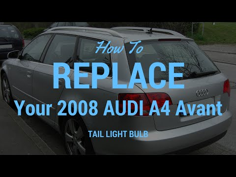 replacing tail light bulb in 2008 audi a4 avant youtube. Black Bedroom Furniture Sets. Home Design Ideas