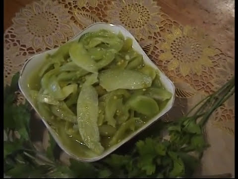 Салат из ЗЕЛЕНЫХ помидоров.