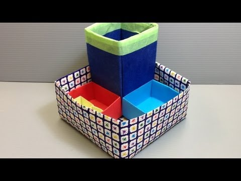 Origami desk organizer or pencil stand for back to eu9 - Origami desk organizer ...