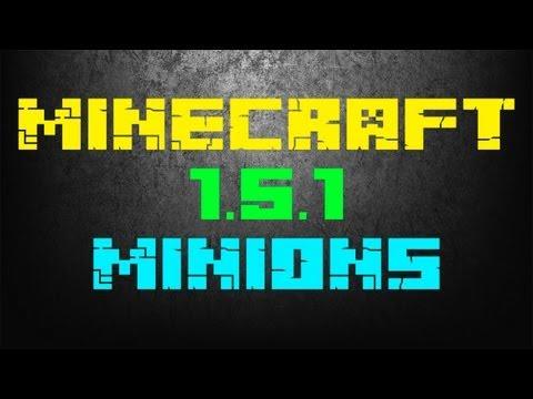 Minions - Mod do Minecraft 1.5.1 (Twoi własni słudzy ! Twórz kopalnie bez kiwnięcia palcem)