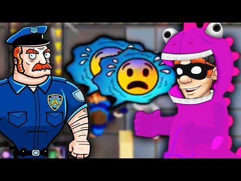 ВОРИШКА БОБ в КОСТЮМЕ ДРАКОНА! ПУГАЕМ ПОЛИЦЕЙСКИХ Мульт игра для детей про воришку Robbery Bob 2