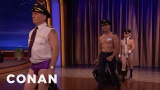United Airlines' Dress Code Double Standard  - CONAN on TBS