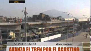 Avanza El Tren Por El Agustino
