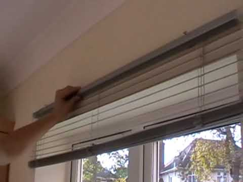 How To Fit A Metal Venetian Blind Youtube Youtube