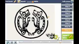 How to Draw Quileute Tribe Tattoo from New Moon