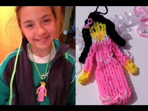 princesa  de gomitas o ligas..Rainbow loom doll charm