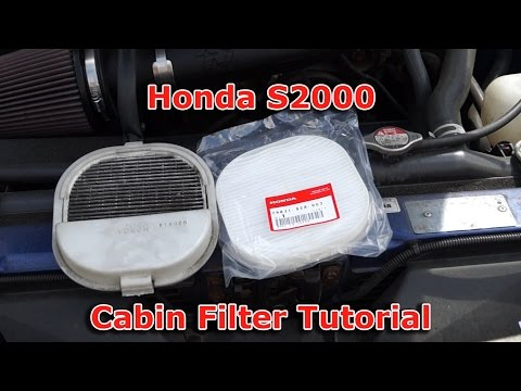 Honda S2000 Cabin (Pollen) Filter Change Tutorial