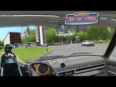 Легендарный Бумер 740 E38 и жогово на Шохе в VR - City Car Driving - Oculus Rift - Fanatec CLS Elite
