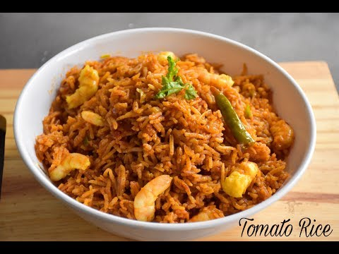 My Style Tomato Rice Recipe | Quick and Easy Tomato Rice Recipe | Indian Rice Rice #397