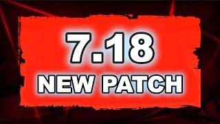 Dota 2 NEW 7.18 PATCH UPDATE - Main Changes!