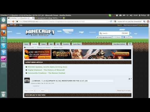 Tutorial #2 : Minecraft Texture Pack/MC Patcher installieren [Ubuntu] bis v1.5.2 [Deutsch]
