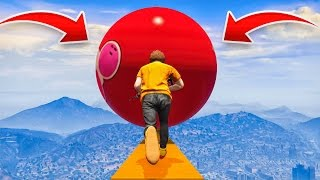 HUGE BOWLING BALL AVALANCHE! (GTA 5 Funny Moments)