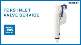 Geberit FORS inlet valve service