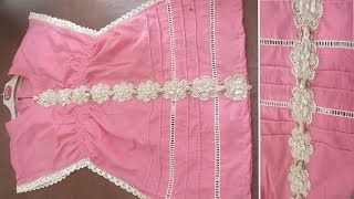 Stylish A-Line Kurti cutting and stitching | very simple method | step by step