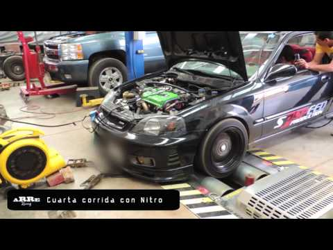 Civic Sir B20 Turbo + Nitro Dyno Day