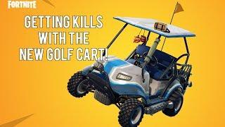 Exploring Lazy Links on the New Golf Cart! (Fortnite Battle Royale Season 5)