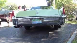 1969 Cadillac Coupe DeVille Dual Exhaust sound 472ci 7.7 liter