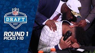 Picks 1-10: Multiple Trades, QB Surprises, & MORE! (Round 1) | 2017 NFL Draft | NFL