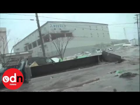 Dramatic unseen footage of Japanese tsunami
