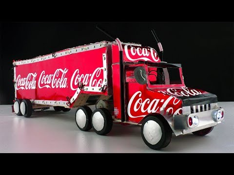 How To Make Coca Cola Trucks with DC Motor