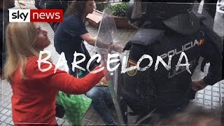 Riot police clash with activists in Catalonia