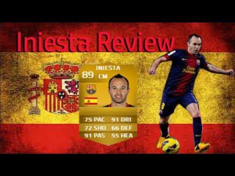 Iniesta Fifa 14 Card Fifa 14 Andres Iniesta 89