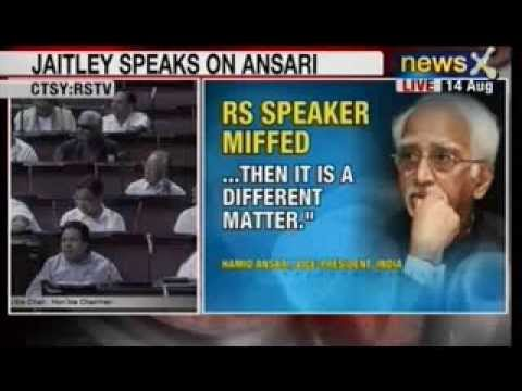 NewsX:  Netas slams Hamid Ansari