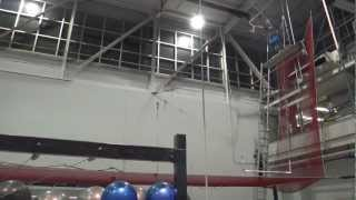 Knee Hang on the Flying Trapeze at TSCA