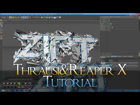 Thrausi & Reaper X Text   Cinema 4D TUTORIAL #1