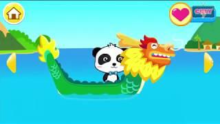 Gấu trúc Panda lái thuyền rồng ra biển vui chơi cu lỳ chơi game Little Panda Captain lồng tiếng vui