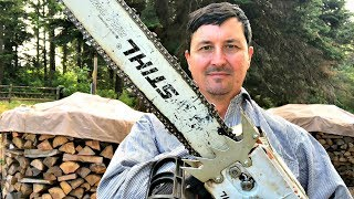 Why Loggers Run Upside Down Chainsaw Bars